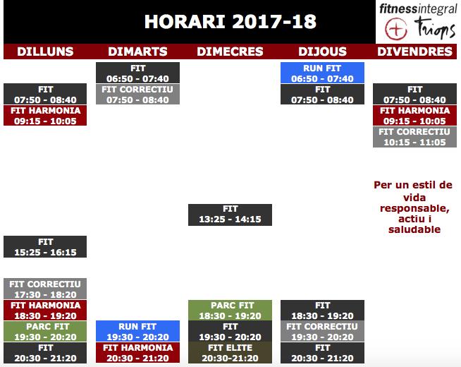 Horaris DEFINITIUS 2017-18